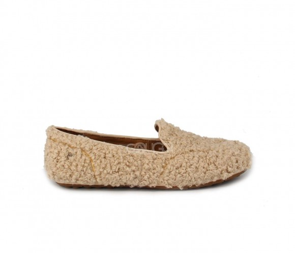 Hailey Fluff Loafer Sand