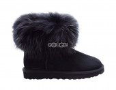 Mini Fox Fur Black
