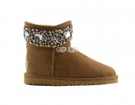 Jimmy Choo Multi Crystals Chestnut