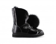 UGG ISLEY PATENT WATERPROOF BOOT - Black