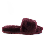 Fluff Slide Slippers Dark Purple