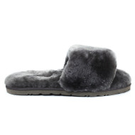 Fluff Slide Slippers Dark Grey