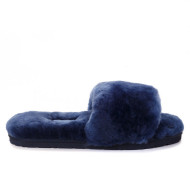 Fluff Slide Slippers Navy Blue
