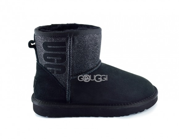 Classic Mini Ugg Sparkle Boot Black