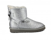 Mini Bailey Bow Sparkle Boot Silver