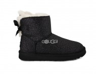 Mini Bailey Bow Sparkle Boot Black