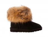 Mini Fox Fur Black III